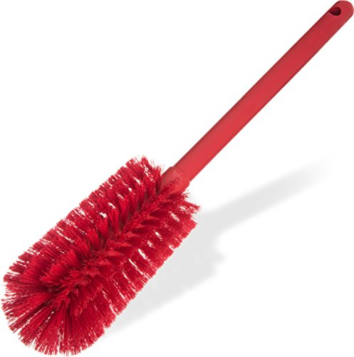 Carlisle 40001C05 Commercial Bottle Brush, Polyester Bristles, 16'' Length, Red (Pack of 6) by Carlisle (Image #5)