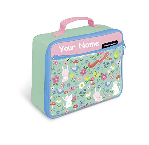 Personalized Crocodile Creek Backyard Friends Insulated Lunch Box - 10 Inches
