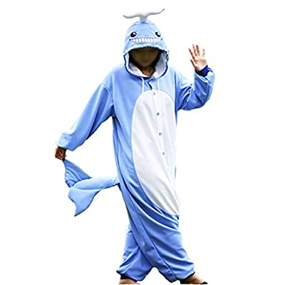 WOTOGOLD Animal Cosplay Costume Unisex Adult Blue Whale Pajamas