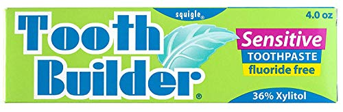 Squigle Tooth Builder SLS Free Toothpaste (Helps Stop Tooth Sensitivity and Helps Prevent Canker Sores, Perioral Dermatitis, Bad Breath, Chapped Lips)