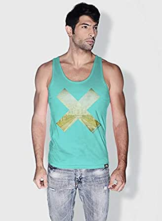 Creo India X City Love Tanks Tops For Men - Xl, Green