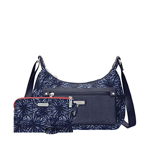 About Floral Womens Indigo Rfid With And Wristlet Bagg Phone Out Baggallini pU1yqSAS