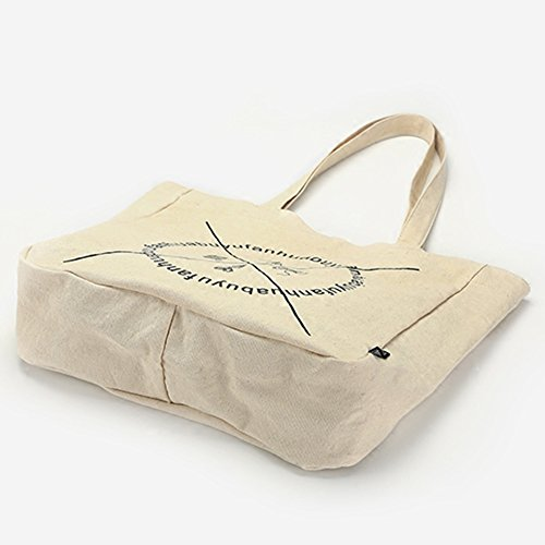 Hobo Travel Hm Shoulder Shopping Canvas Totes Lunch White Bag For Dx Bags Black Camping Women Beach Dates out Yoga Gym amp; School Picnic XqrrwnaI