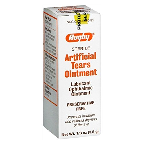 Rugby Artificial Tears Ointment 1/8 oz (Pack of (Ointment 3.5g Tube)