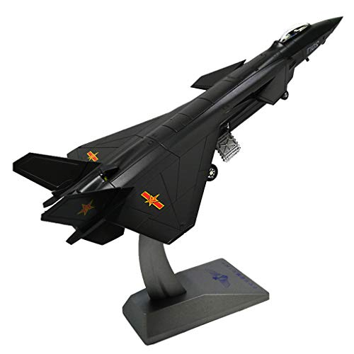 CUTICATE Chinese Chengdu J-20 Fighter Aircraft 1:72 Scale Diecast Display Model with Stand for Decoration or Gift