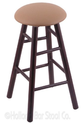 Maple Extra Tall Bar Stool in Dark Cherry Finish with Allante Beechwood Seat - Beechwood Fan Back Chair