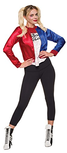 Harley Quinn Adult Womens Plus Size Costumes (UHC Harley Quinn Outfit Movie Theme Fancy Dress Halloween Teen Costume, Teen (2-6))