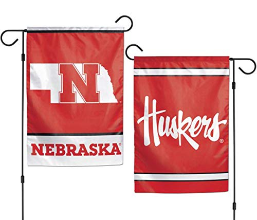WinCraft NCAA University of Nebraska 12x18 Inch 2-Sided Outd
