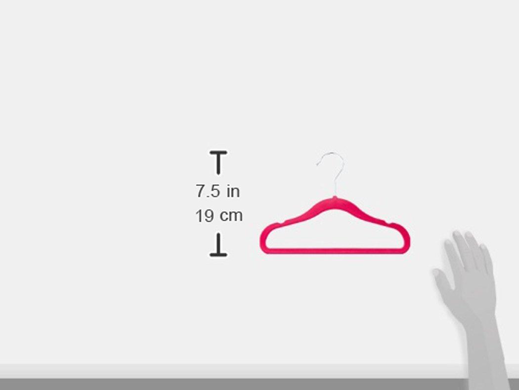 AmazonBasics Kids Velvet Hangers - 30-Pack, Pink by AmazonBasics (Image #3)