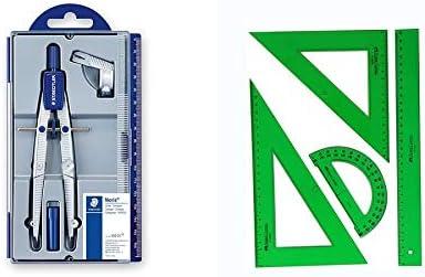 Pack Staedtler Noris Club 550 01 + Faber-Castell Juego de Reglas plástico Verde 4 Piezas: Amazon.es: Juguetes y juegos