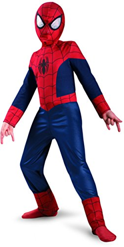 [Disguise Boy's Marvel Ultimate Spider-Man Classic Costume, 10-12] (Girl Marvel Character Costumes)