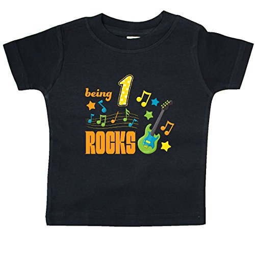 inktastic - Being One Rocks- First Birthday Baby T-Shirt 12 Months Black 286be
