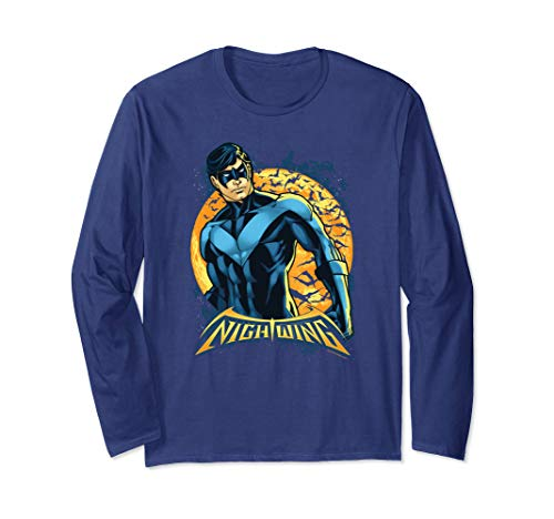Batman Nightwing Moon Longsleeve T Shirt ()