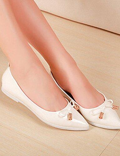 PDX us8 Flats cerrado señaló blanco Toe uk6 Toe Casual eu39 de mujer plano talón cn39 negro comodidad white rosa de zapatos 44wpT