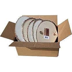 "Basswood Plaque (Round/Oval) Bulk Quantity Value Box (Small (5""-7"" Diameter) Pack of 20)"