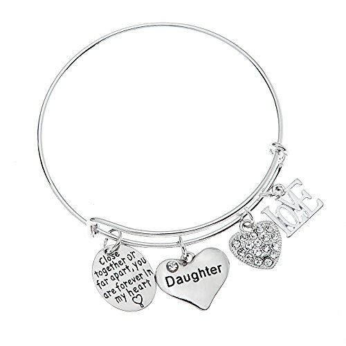 Daughter Bracelet- Daughter Jewelry- Never Far Apart - Perfect Gift for -