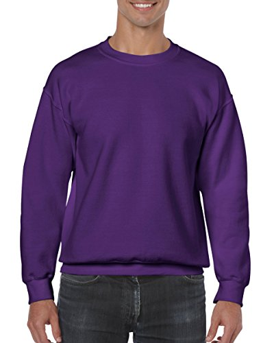 - Gildan Men's Heavy Blend Crewneck Sweatshirt - Large - Purple