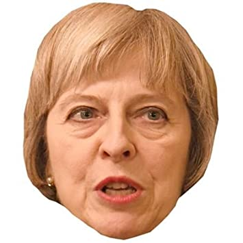 Card Face and Fancy Dress Mask Theresa May Celebrity Mask Odd