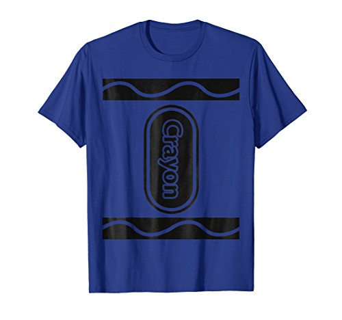 Mens Blue Crayon Box Group Costume Halloween T-Shirt XL Royal Blue -