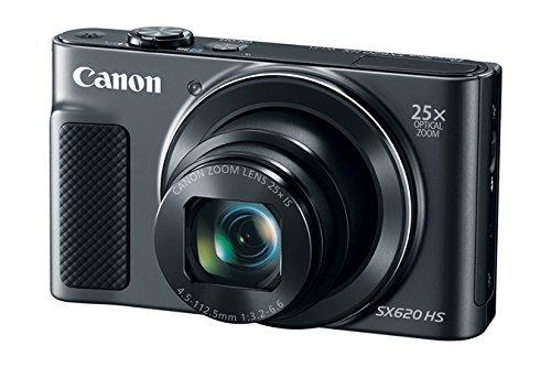 Canon PowerShot SX620 Digital Camera w/25x Optical Zoom – Wi-Fi & NFC Enabled (Black) – Memory Card Bundle (Camera…