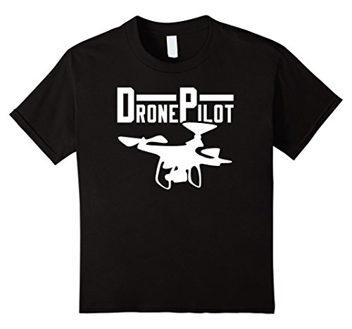 Price comparison product image Drone Pilot Shirt   Cool Tee Geek T-Shirt - Kids 12 - Black
