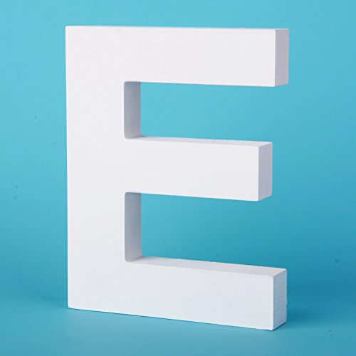 Blocks Hanging (Takefuns Large Wall Letters Marquee Alphabet Decorative Wood Letters Hanging Wall 26 Letters Diy Block Words Sign for Children Baby Name Girls Bedroom Wedding Birthday Party Home Décor,Letter E)