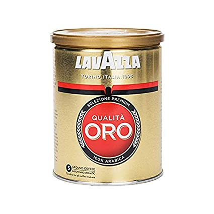 Lavazza Kaffee Qualita Oro, Expreso Arábigo Café Tostado, Granos de Café Molido, 250g