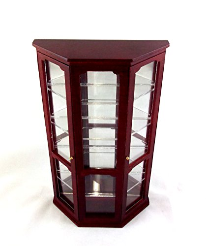 Dollhouse Miniature 1:12 Scale Mahogany Mirror Curio Cabinet #T3074