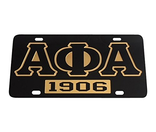 Alpha Phi Alpha Fraternity License Plate Car Tag For Front Back of Car Divine 9 (Car Tag - 7305)