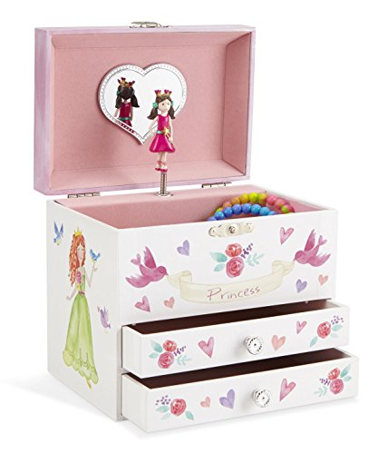 JewelKeeper Unicorn Musical Jewelry Box, Fairy Princess Design with Two Pullout Drawers, Dance of the Sugar Plum Fairy Tune (Jewelry Princess Musical Box Child)