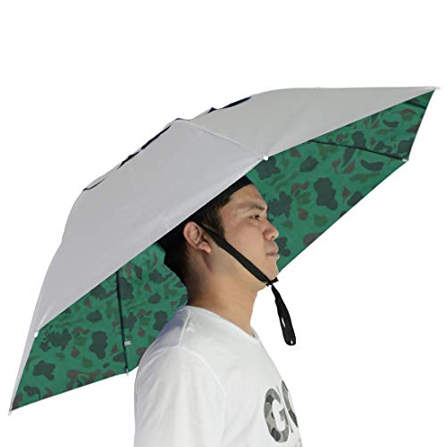 NEW-Vi Fishing Umbrella Hat Folding Sun Rain Cap Adjustable Multifunction Outdoor Headwear]()