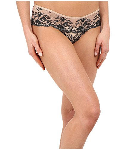 Free People Women's Wild Roses Hipster Undie Champagne/Black Combo Underwear