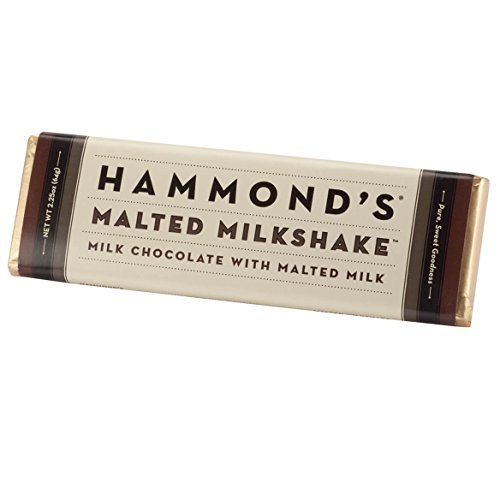 Nostalgic Chocolate Bars (Hammond's Malted MilkshakeTM Milk Chocolate Bar 2.25 oz.)