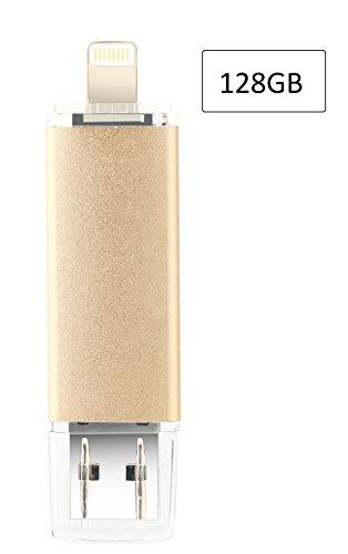128GB iPhone USB Flash Drive, iOS Memory Stick, iPad