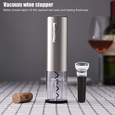 Asixxsix Abrebotellas de Vino, Regalos de Vino automáticos, indicador Luminoso Incorporado 4 en 1, Restaurante eléctrico al vacío para el hogar