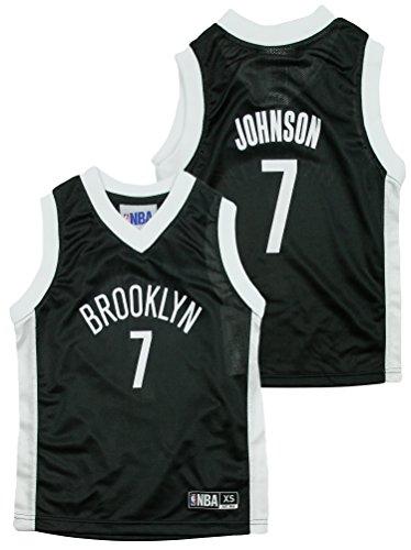 Outerstuff Brooklyn Nets NBA Little Boys Joe Johnson #7 Dazzle Black Jersey