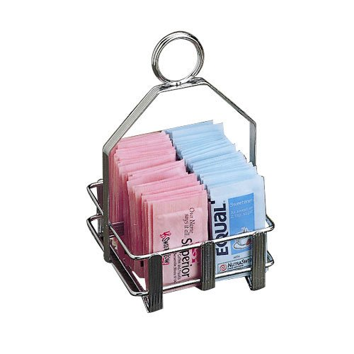 Packet Rack - Tablecraft (602R) Chrome Double-Sided Sugar Packet Rack