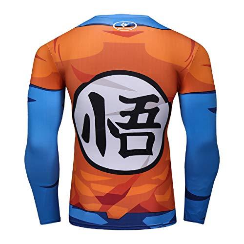 Dragon Ball Goku Gym T-Shirt |Long Sleeve (X-Large) Orange