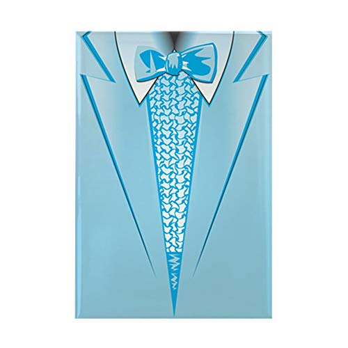 CafePress Powder Blue Tuxedo Rectangle Magnet, 2