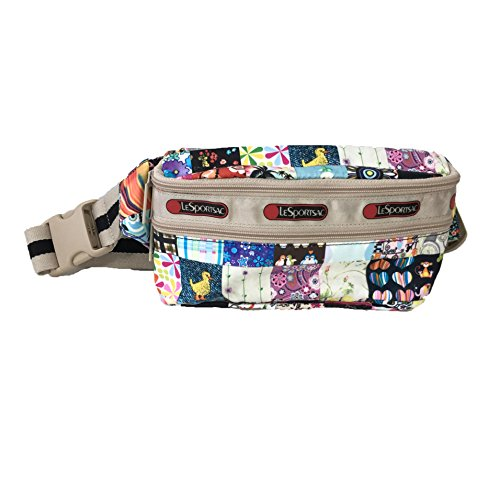 LeSportsac Double Zip Belt Bag Waist Pack, LePatch