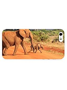 3d Full Wrap Case for iPhone 5/5s Animal Elephants86