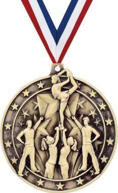クラウンAwardsゴールドCheer Medals – 2