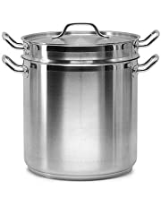 SignatureWares™ Commercial Stainless Steel Double Boiler w/Insert, 20 Qt - BOILERSS20