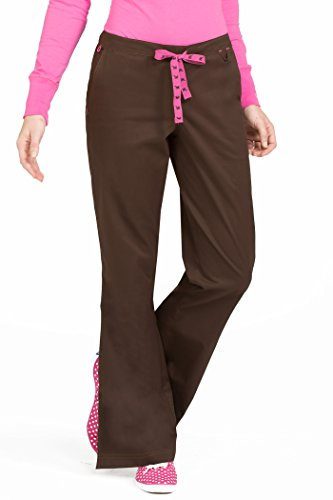 Med Couture Women's 'MC2' Skyler Scrub Pant, Chocolate, X-Small Tall