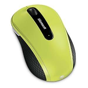 Microsoft Wireless Mobile Mouse 4000 - Ratón, USB, Wireless, BlueTrack, Microsoft Windows XP, 7, Vista, Apple MacOS X 10.4.x - 10.5.x, Verde, AA