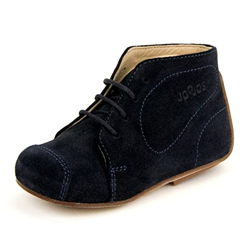 Joojos Lace Up First Walker Shoes for Infants / Toddlers Boys and Girls - Made of Pure Italian Leather - Color: Navy Blue Size: EU 22 / US 6