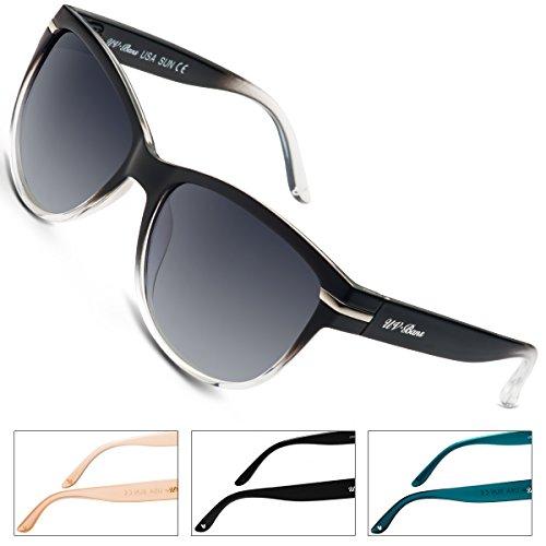 UV-BANS Women Polarized Sunglasses Classic Retro Cateye Frame 100% UV Protection