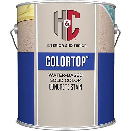 (H&C 20.101284 Colortop Water-Based Solid Color Concrete Stain Gull Gray Gallon)