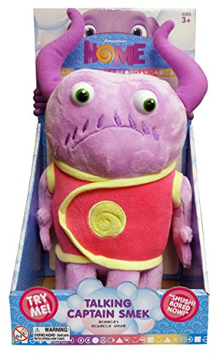 Dreamworks home - Talking Captain Smek Plush Toy - Squeeze His Tummy To Hear 5 Key Phrases from the Movie - Lightweight, Soft, Cuddly Toy - Makes for a Great -