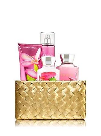 Amazoncom Bath And Body Works Plumeria Gold Woven Basket Gift Kit
